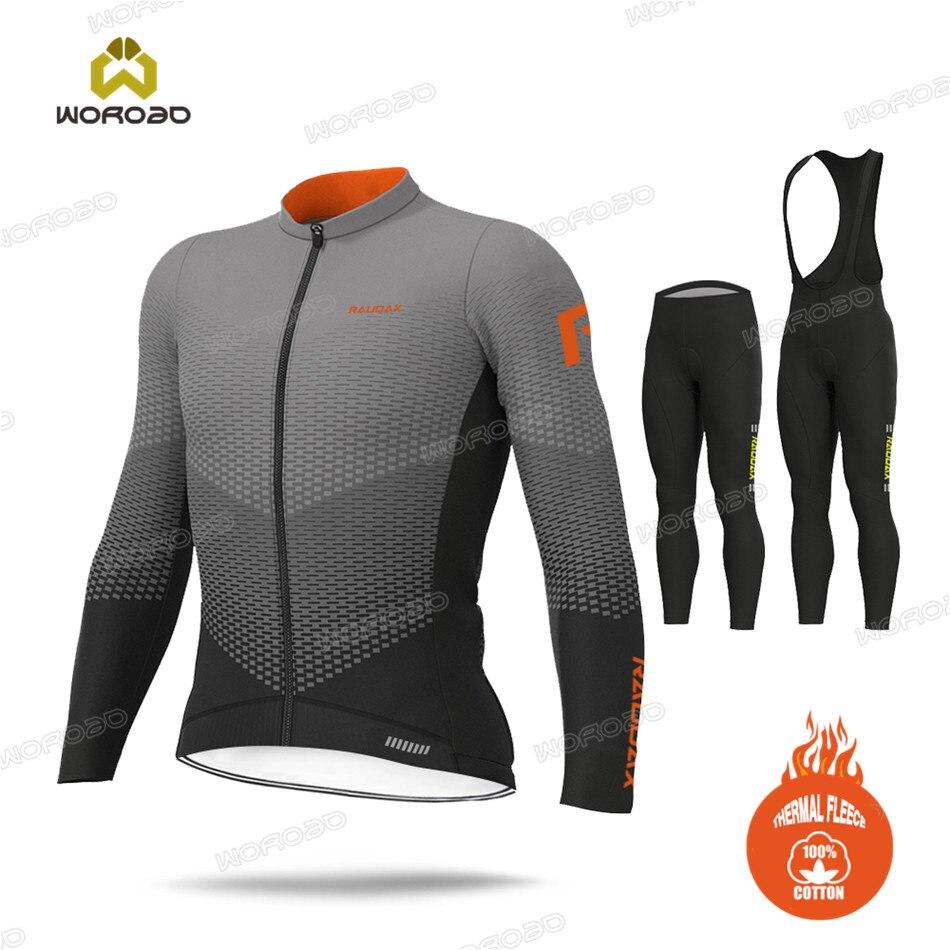 MTB Sportswear Sweatshirt Winter 2020 Long Sleeve Thermal Fleece Men Cycling Clothing Bicycle Team Ride Uniform Bike Jersey Set